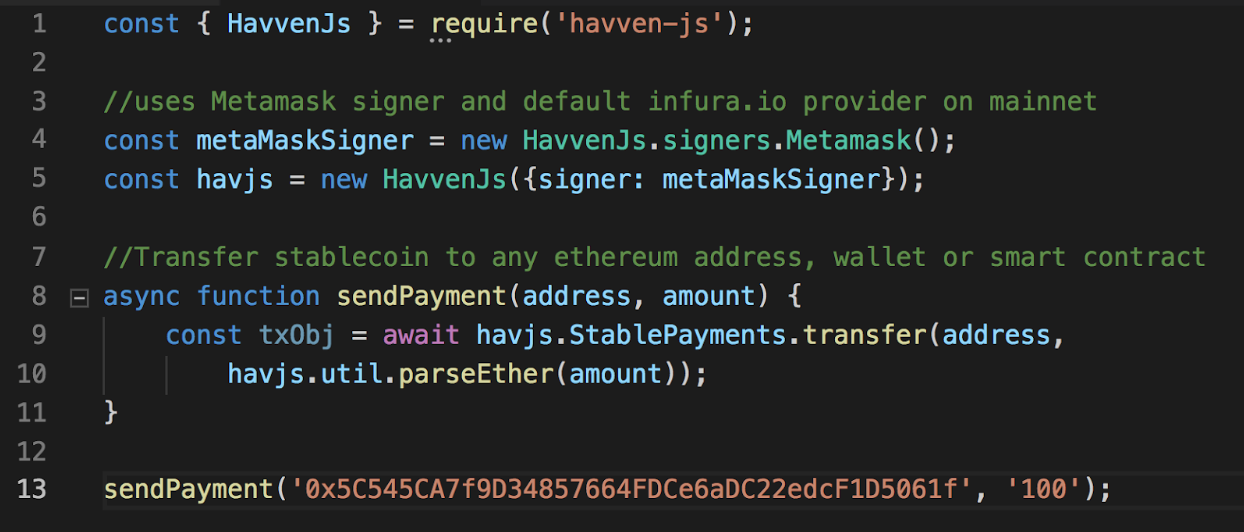 Build a dApp using the Havven JS Library!