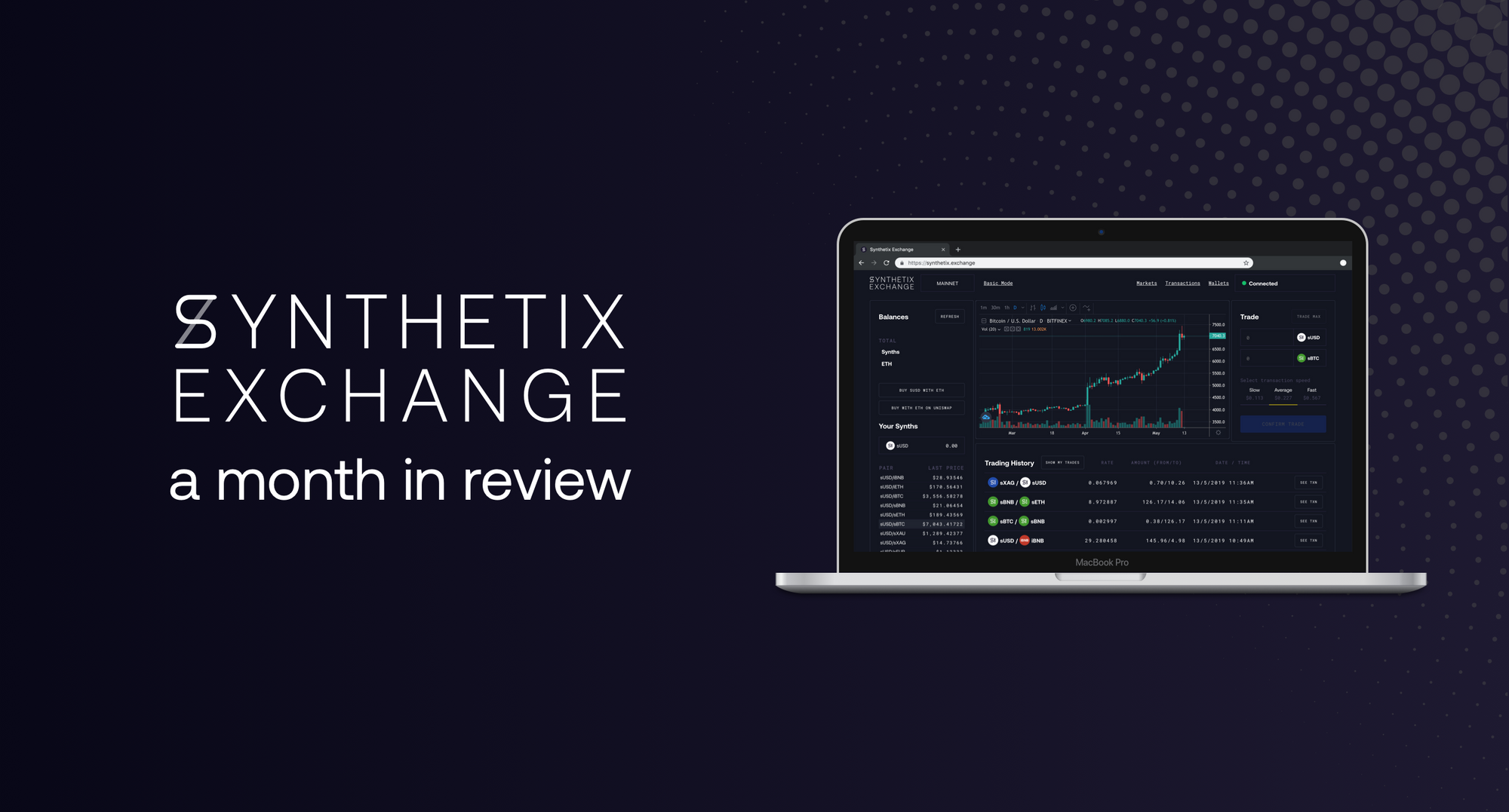 Synthetix.Exchange: a month in review