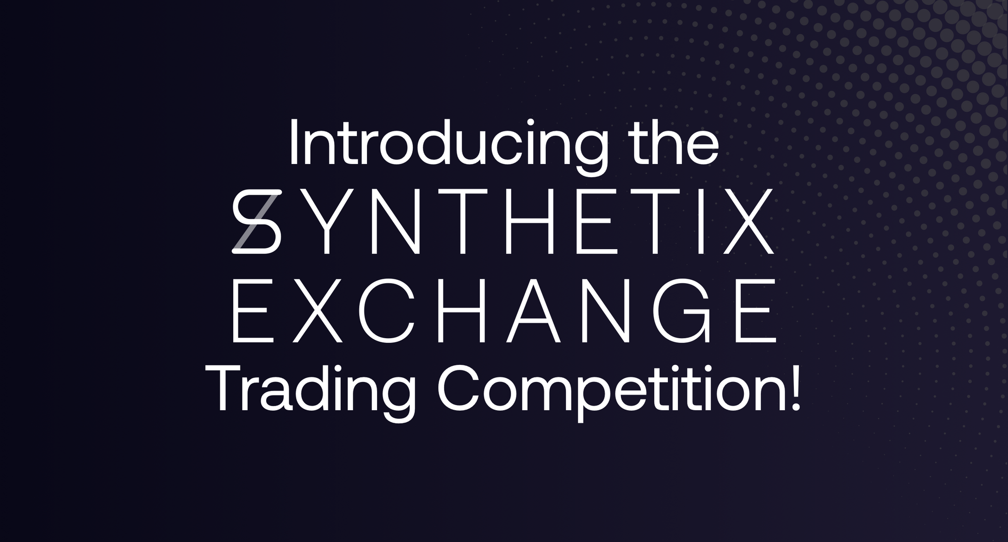 Win a share of 4000 sUSD in our first ever Synthetix.Exchange trading competition!