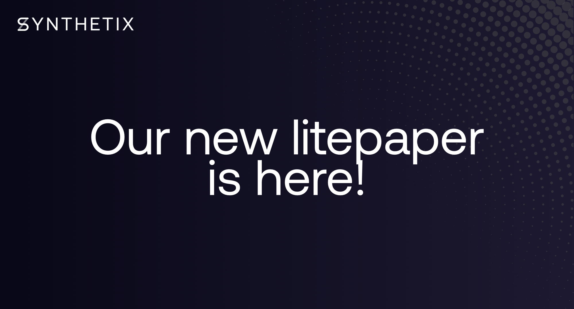 Check out the new Synthetix litepaper!