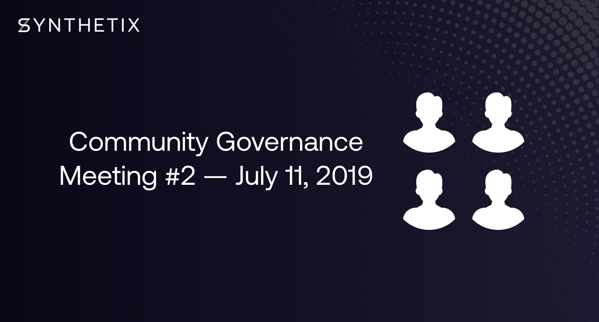 The next community governance call is scheduled for Thursday, July 11