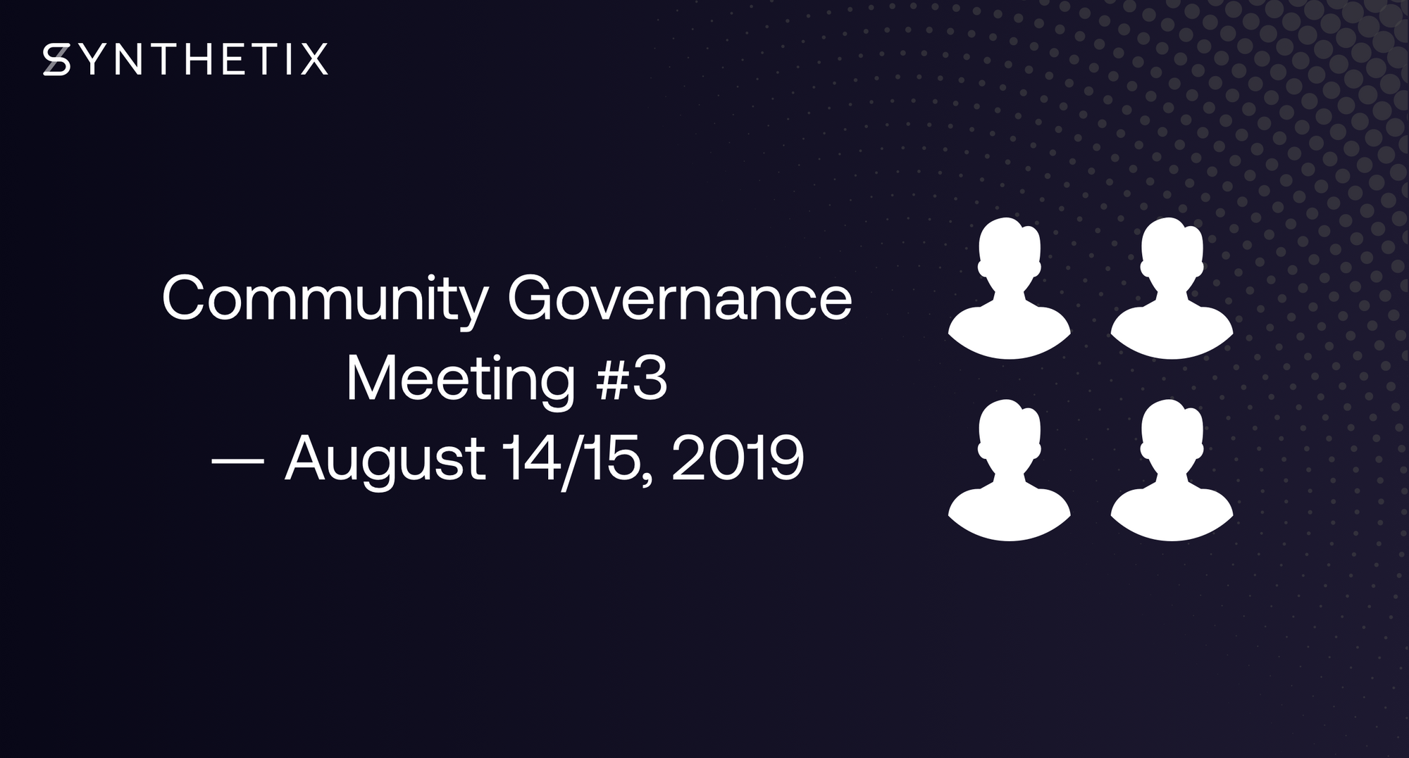 Come join the next community governance call on August 14/15!
