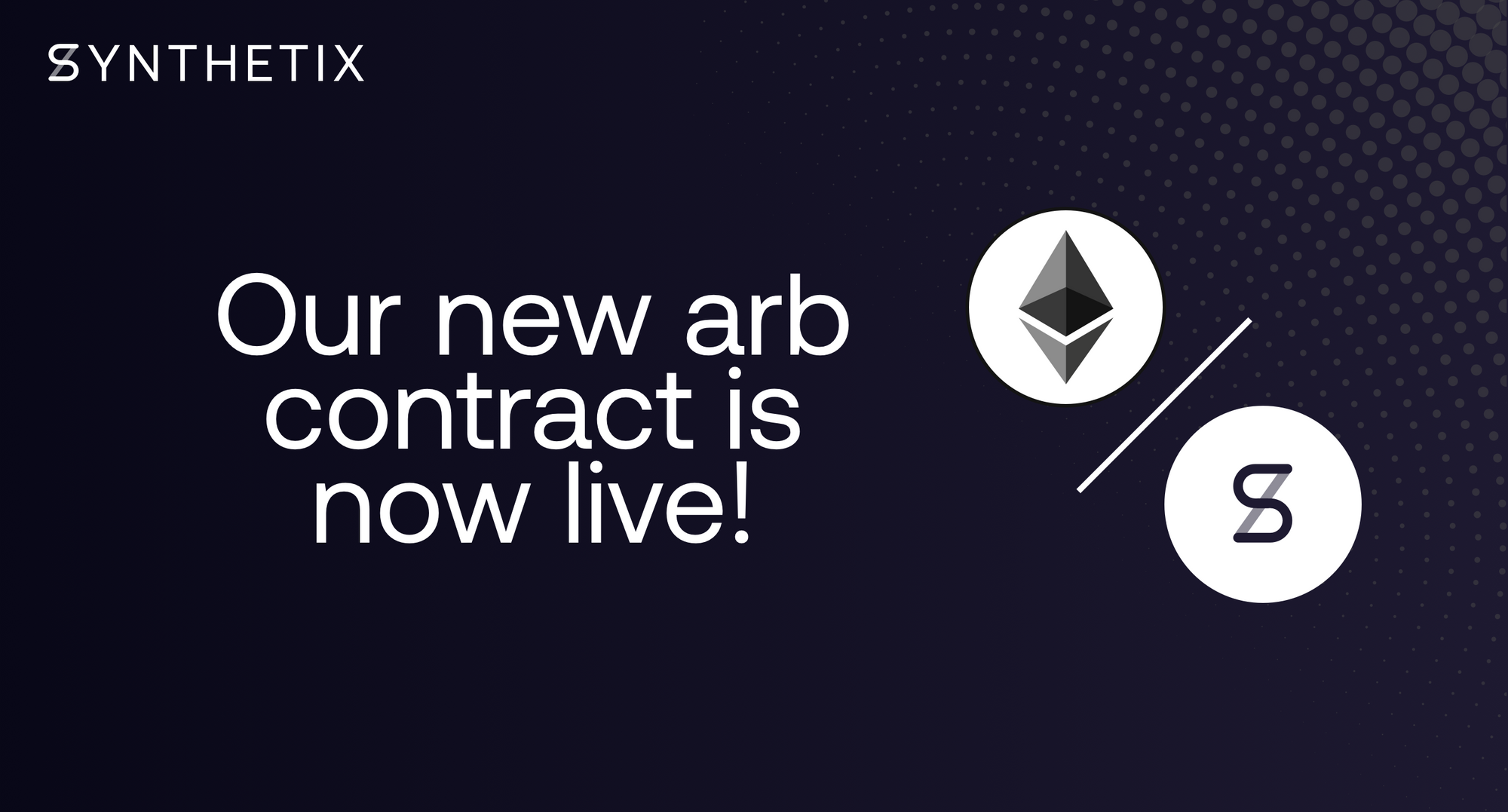 Our new ETH-SNX arb contract is now live!