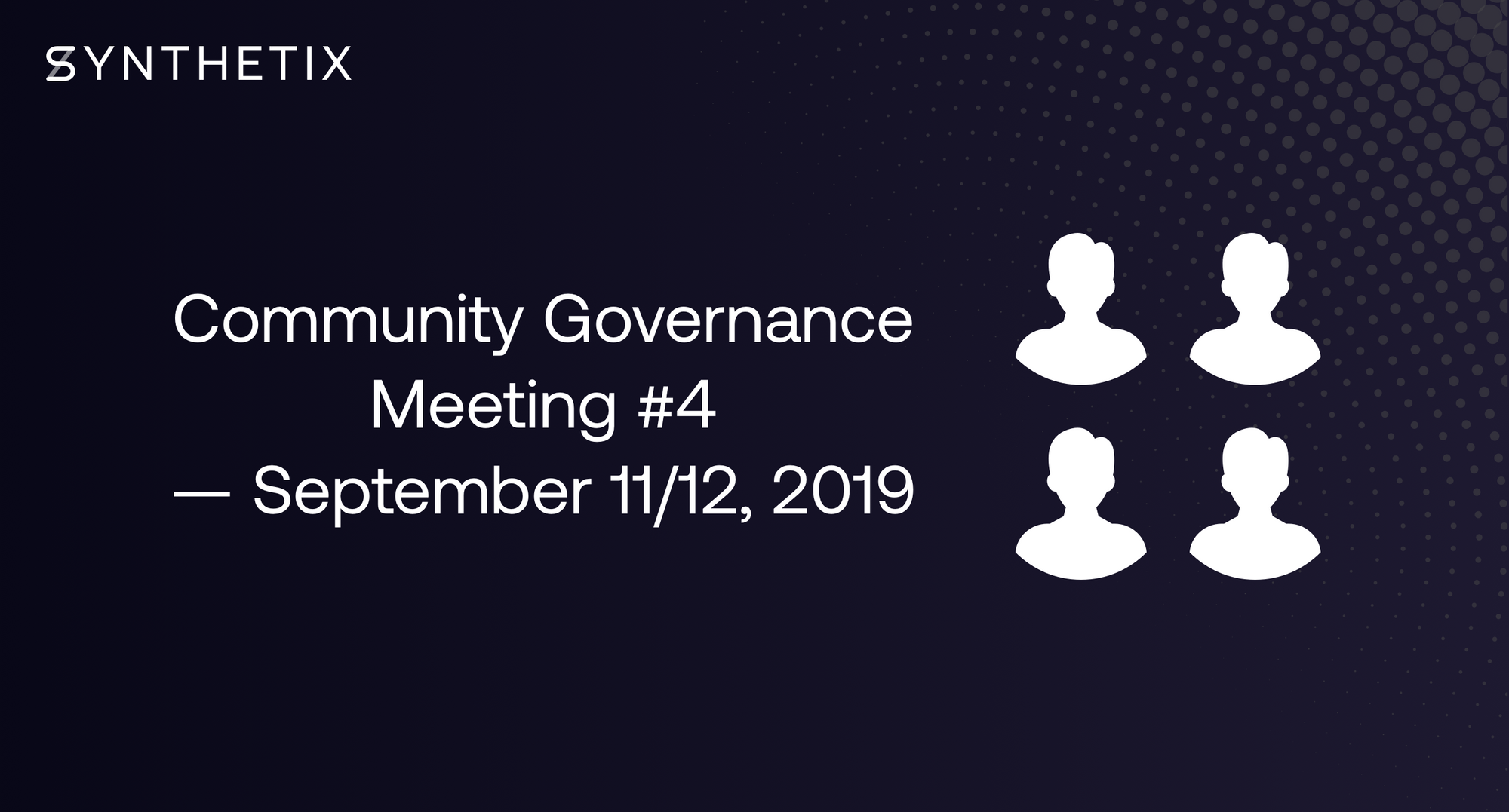 Join us in the next community governance call on September 11/12!