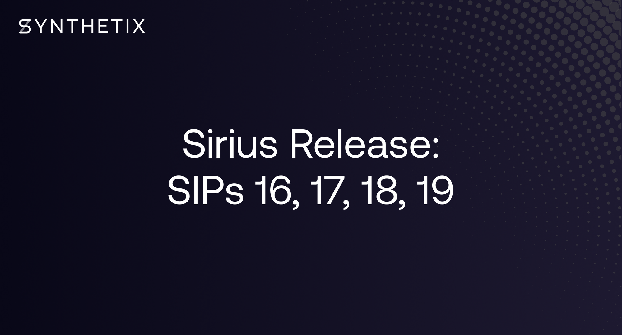 The Sirius Release is scheduled for Thursday, September 26 (AEST)
