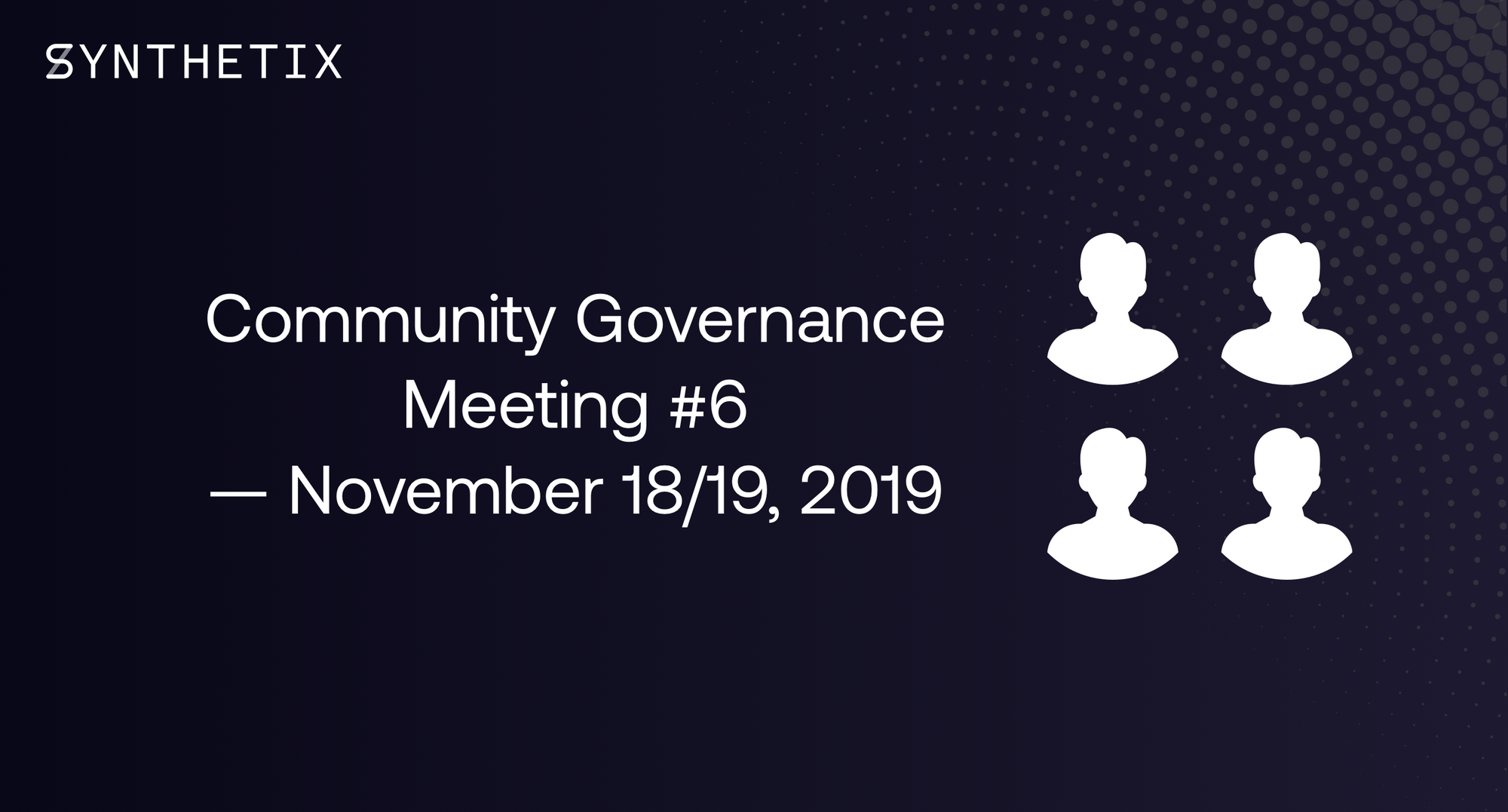 Join us on November 18/19 for the next community governance call!