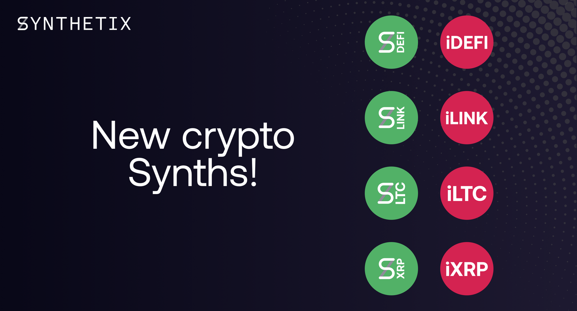 Introducing sDEFI, sLINK, sLTC, sXRP, and their Inverses!