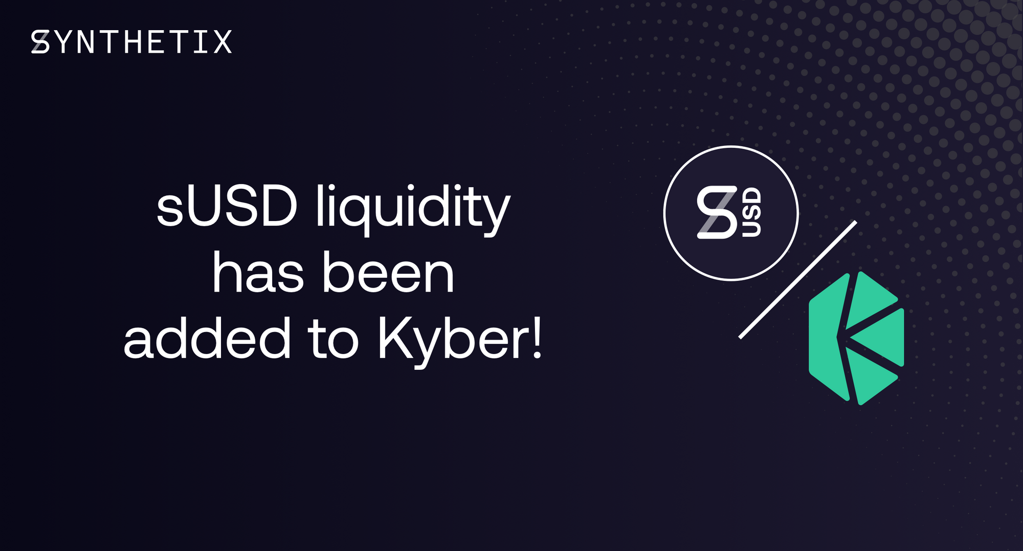 sUSD is now listed on Kyber!