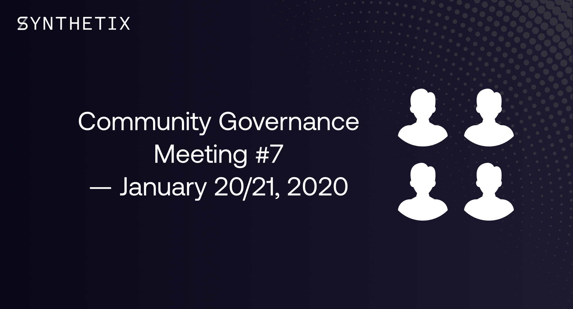 Join us on January 20/21 for the next community governance call!