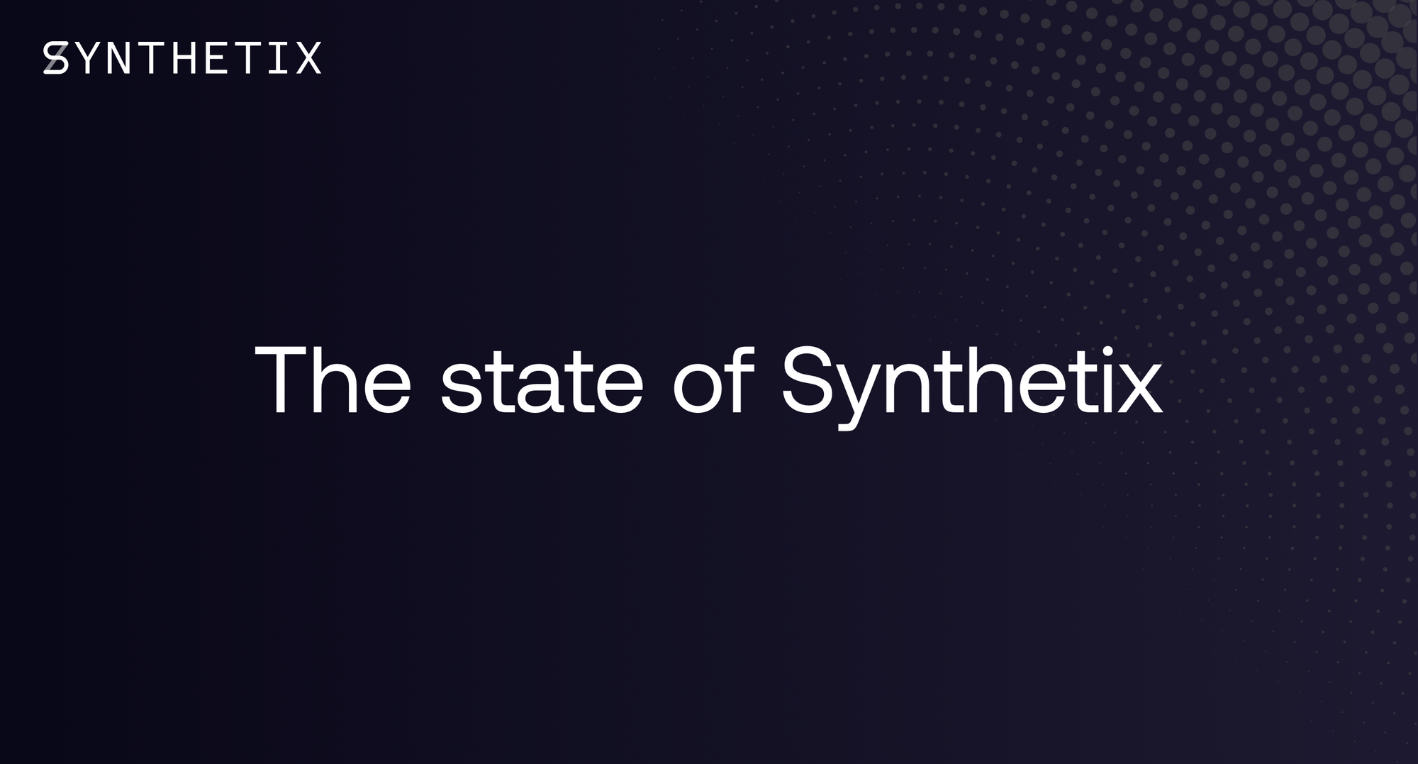 The state of Synthetix