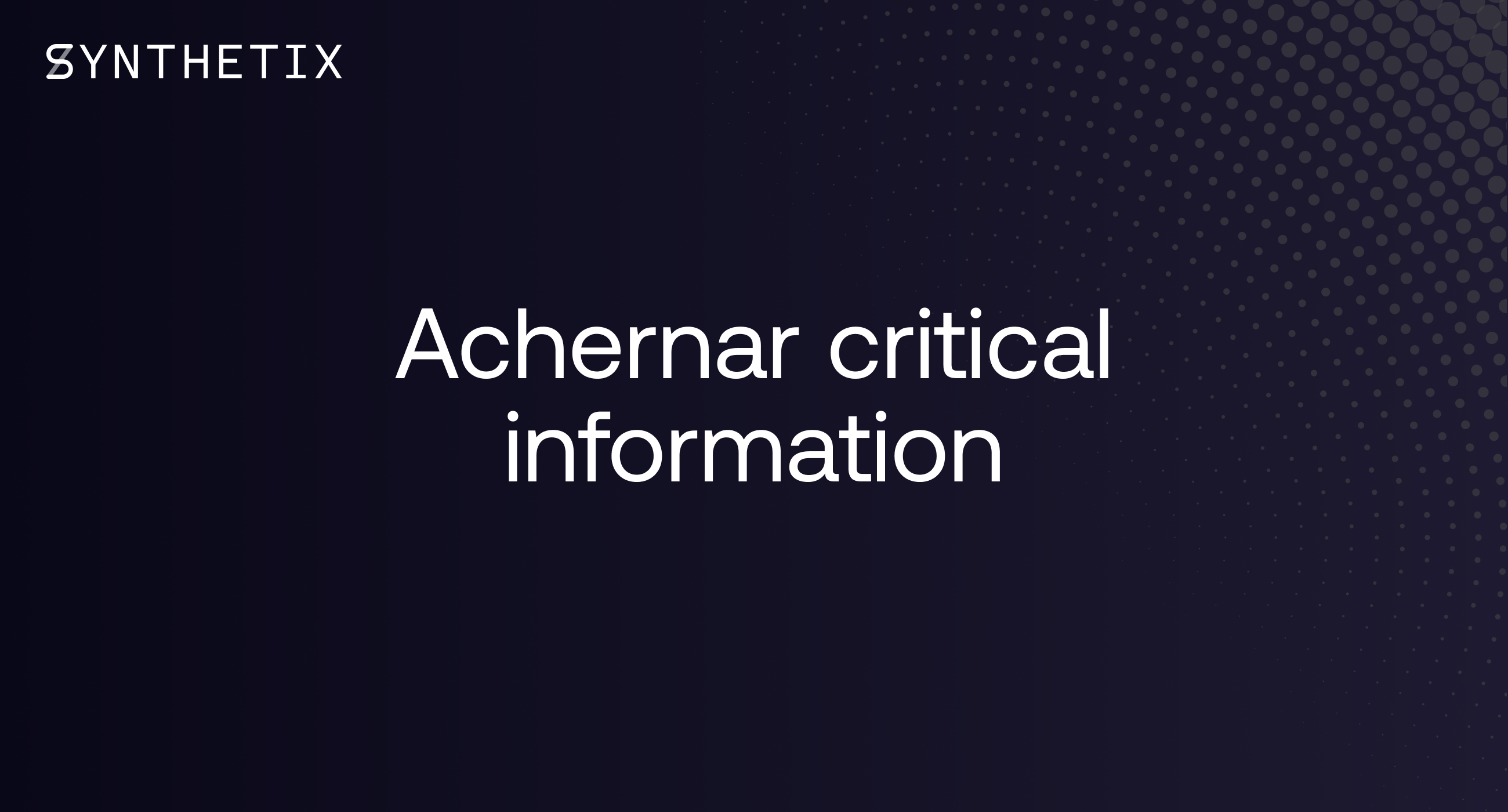 Achernar Critical Information
