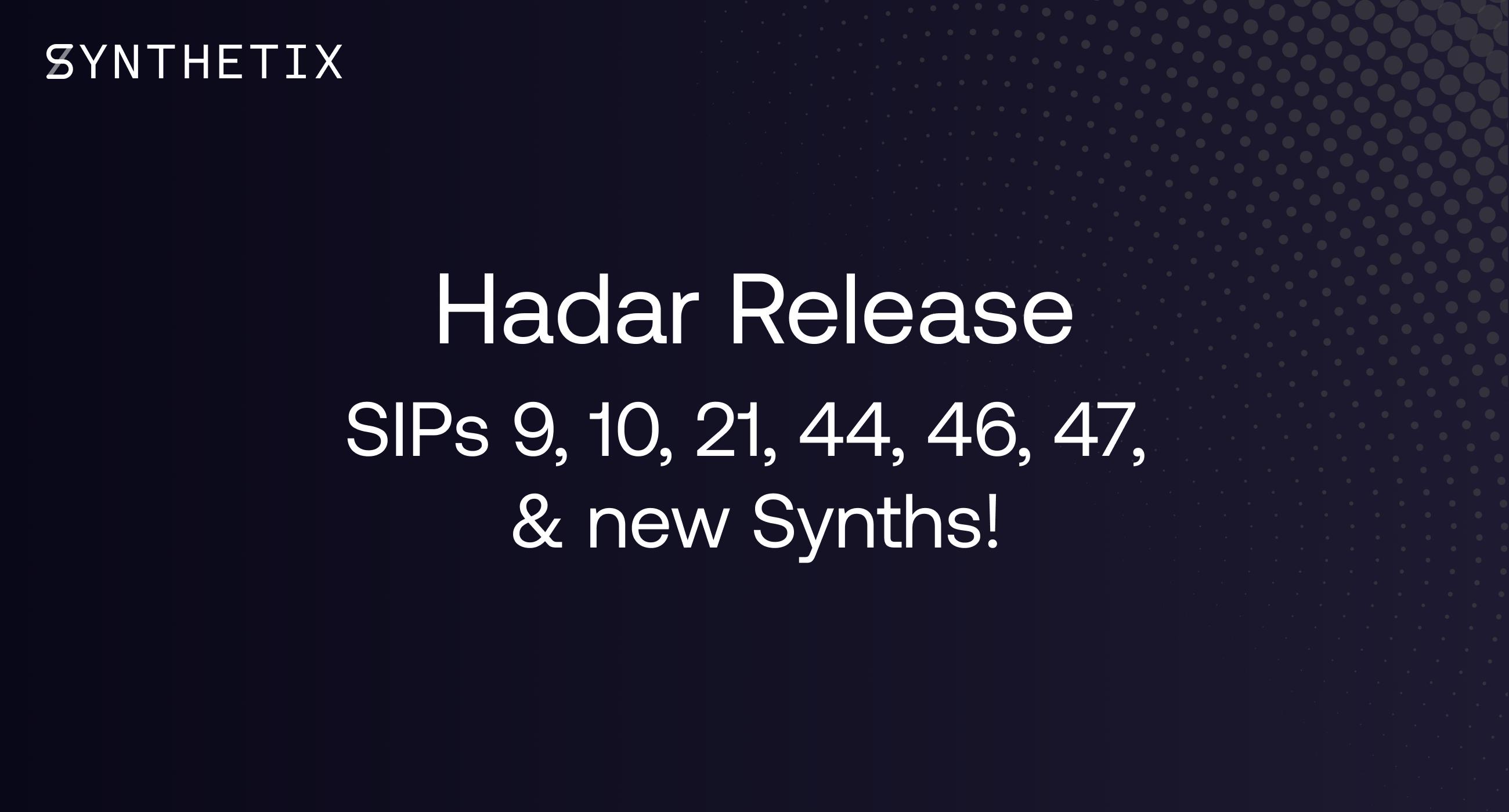 The Hadar release