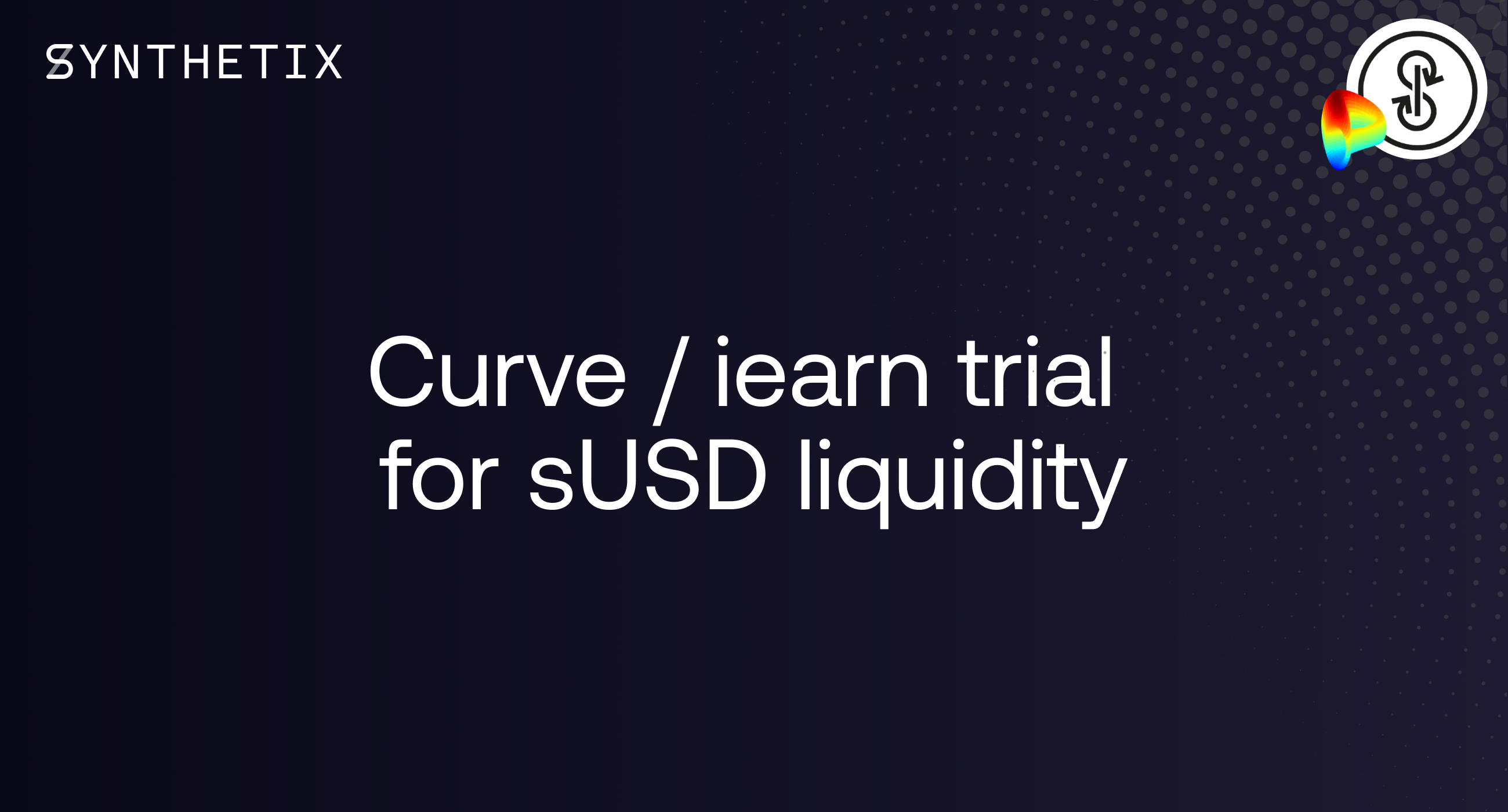 sUSD liquidity trial with Curve/iearn