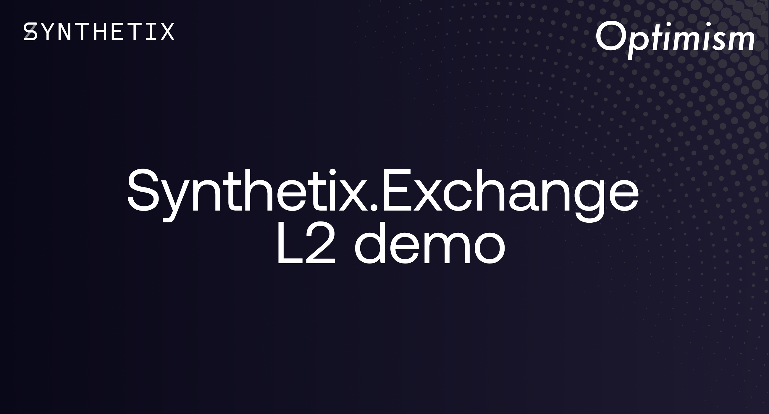 The Synthetix.Exchange L2 demo is now live on OVM!