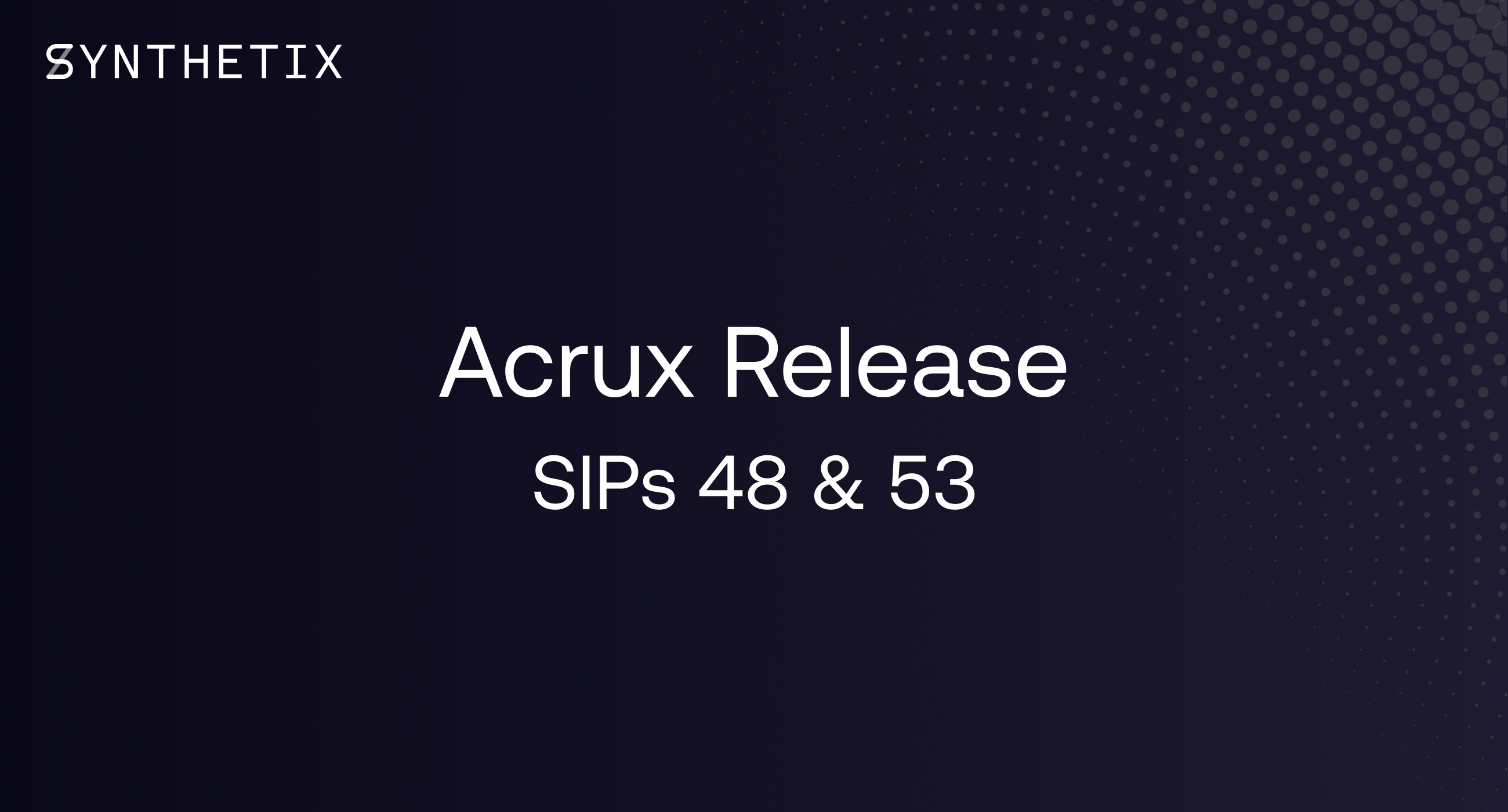 The Acrux release