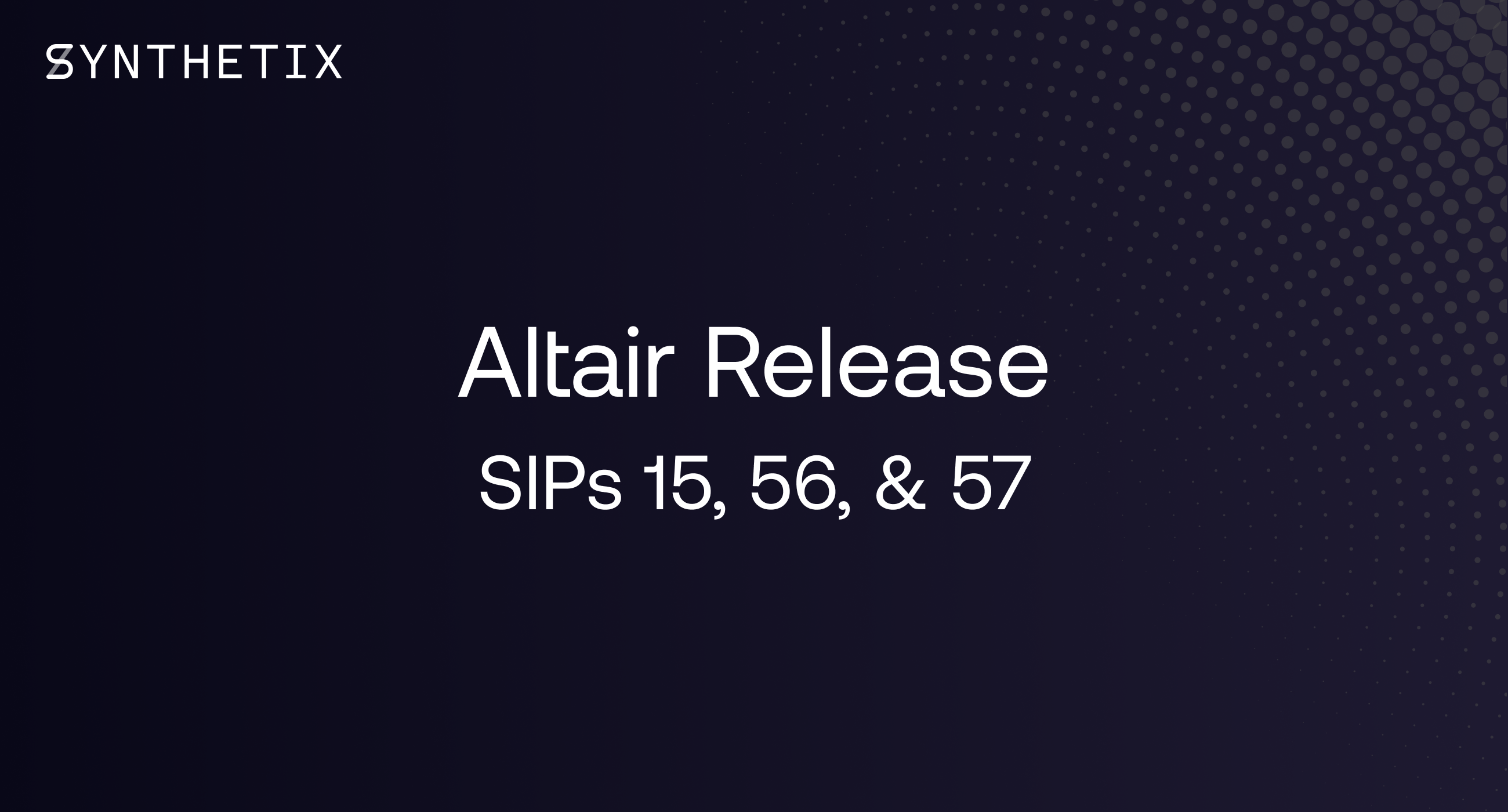 The Altair release