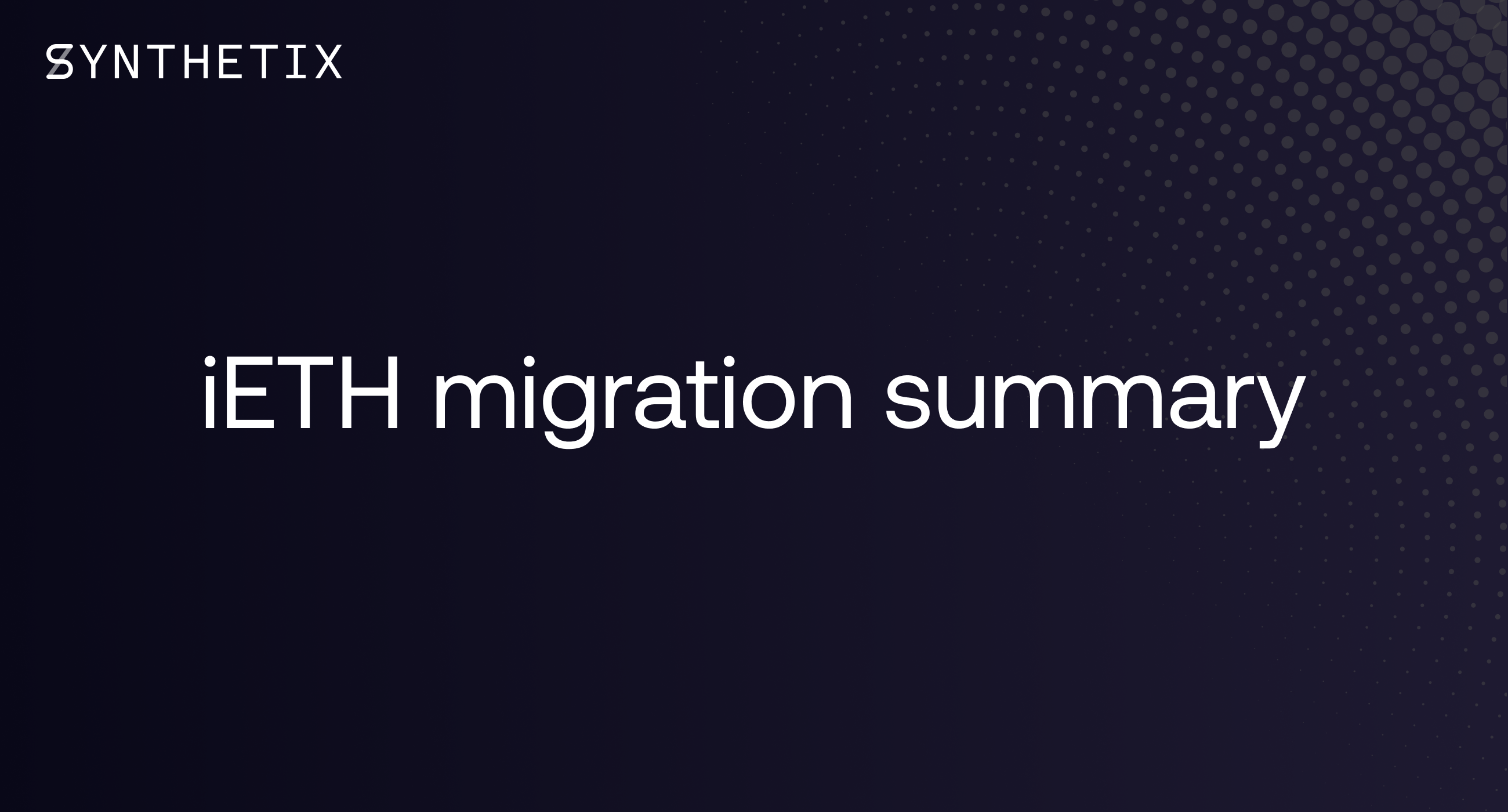 iETH migration summary
