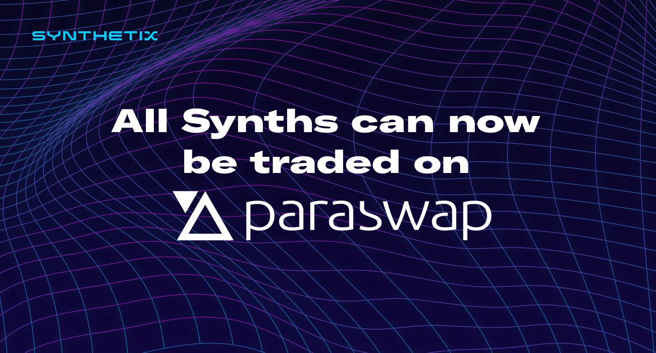 Paraswap joins the Synthetix Volume Program