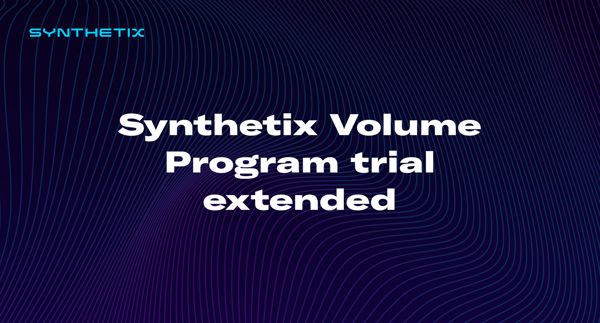 Synthetix Volume Program trial extended