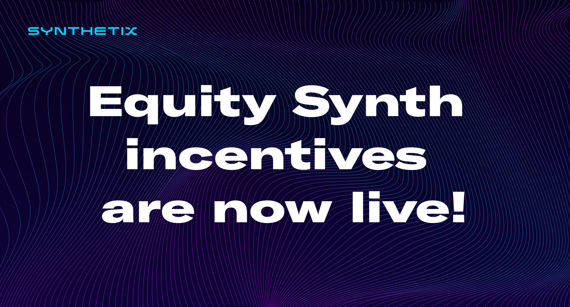 Equity Synth pool incentives are now live on Balancer!
