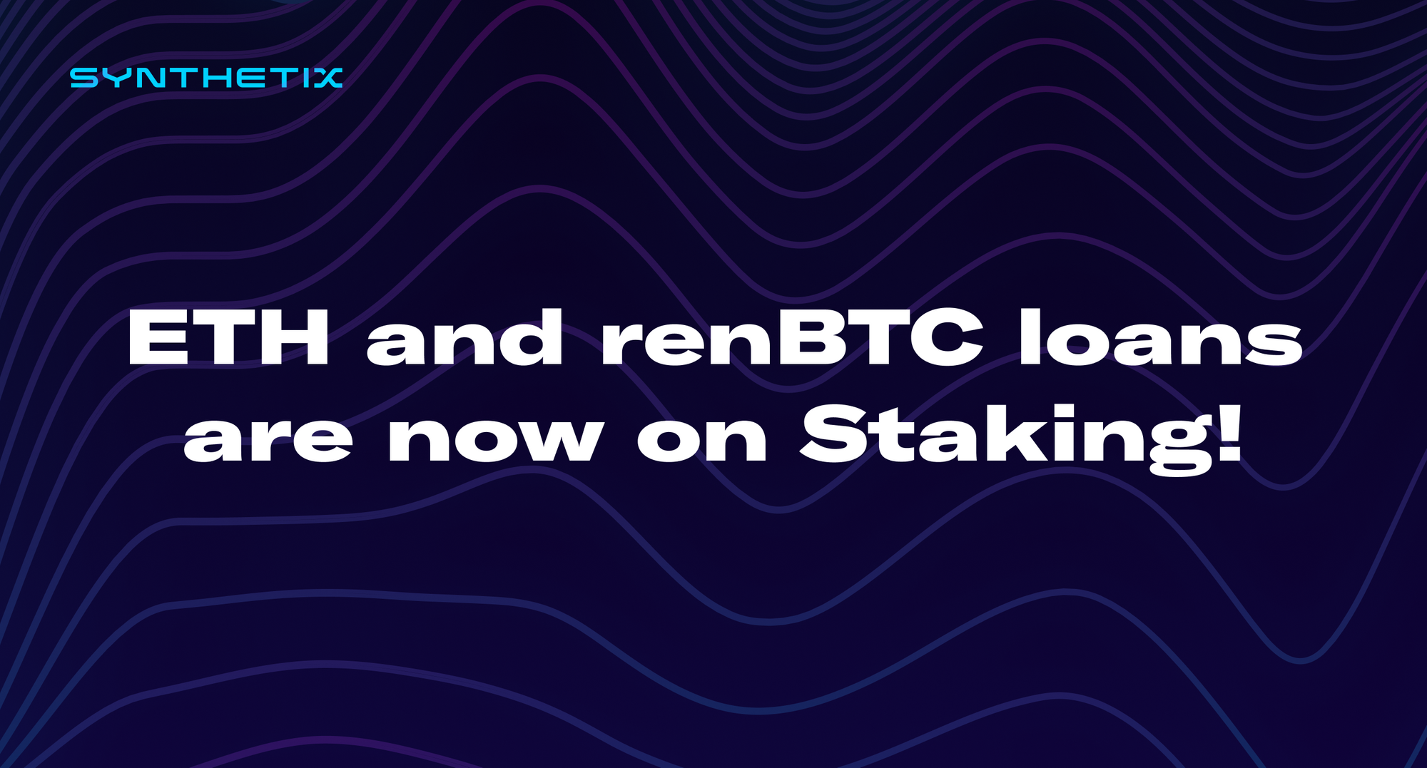ETH and renBTC loans are now on Staking!
