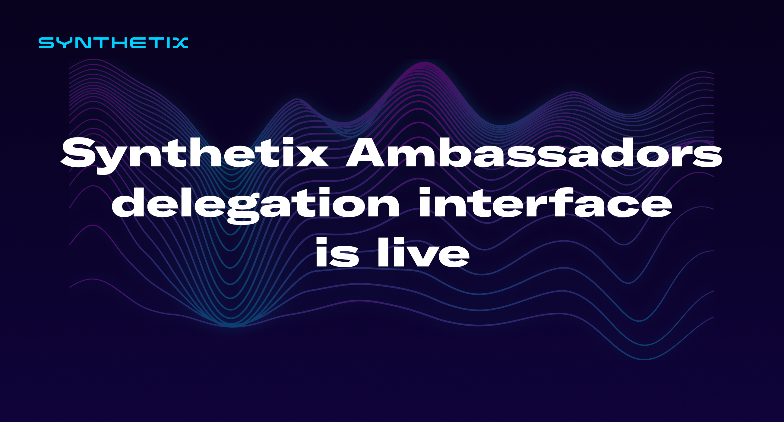 The Synthetix Ambassadors governance portal is now live!